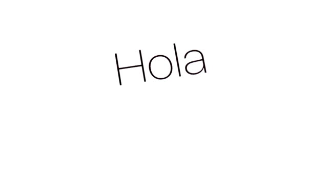 Hello word in diffrent languages on iphone 6s screen video