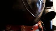 Helmet of medieval armor video