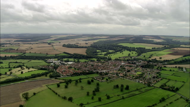 Helmsley And Duncombe Park  - Aerial View - England, North Yorkshire, Ryedale District, United Kingdom video