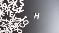 Help Spelled In wooden alphabet video