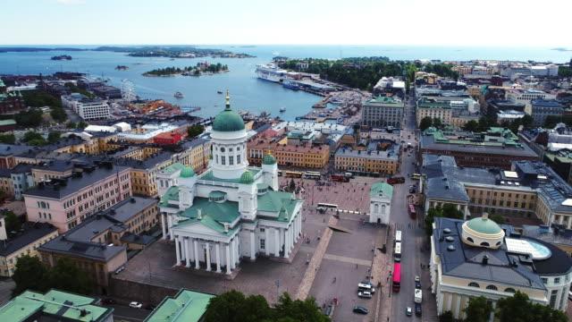 Helsinki Aerial Finland video