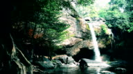 Heo Suwat Waterfall in Khao Yai National Park in Thailand video