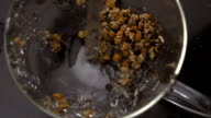 Herbal tea being prepared video