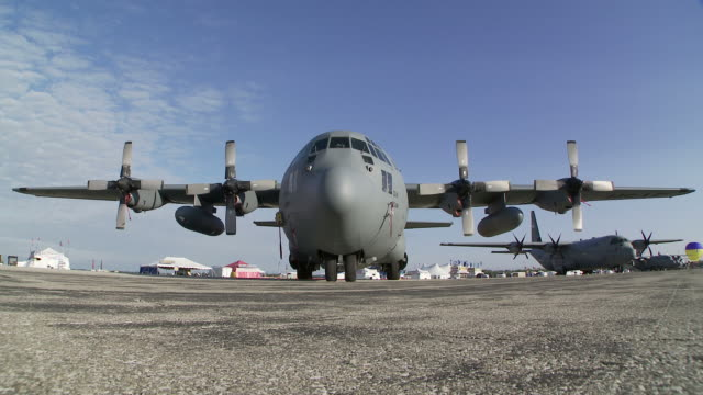 C-130 Hercules Parked 24-1 video