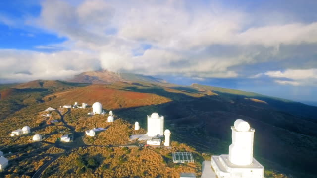 Here observe the cosmos and the stars - astronomical observatory video