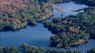 hermit lake - Aerial View - New Hampshire,  Belknap County,  United States video