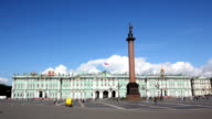 Hermitage and Palace Square St. Petersburg - timelapse in motion video