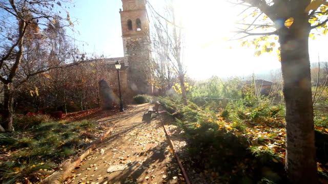 Hermitage, chapel or church.Village and nature landscape video