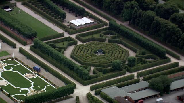 Herrenhausen Gardens  - Aerial View - Lower Saxony,  Germany video