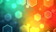 Hexagon Colorful Background Loopable video