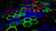Hexagon Hi - Tech Background video