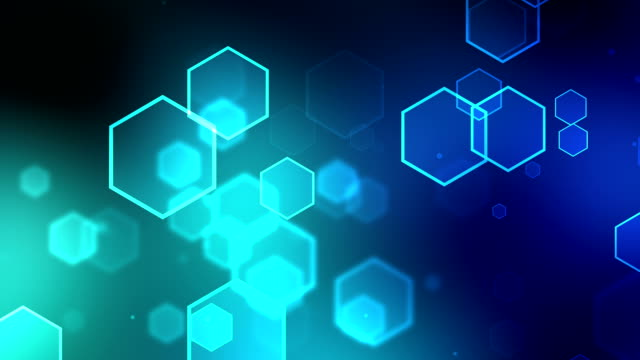 Hexagon Turquoise Background Loopable video