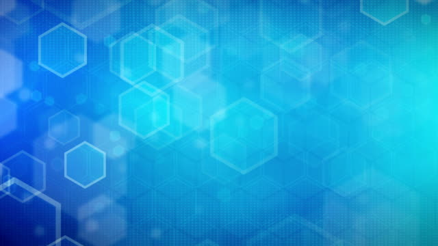 Hexagonal Blue Background (Loopable) video