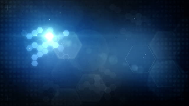 Hexagonal Designed Background Loop - Glowing Blue (Full HD) video
