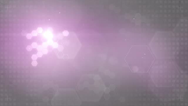 Hexagonal Designed Background Loop - Pink/Grey (Full HD) video