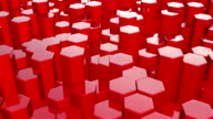 Hexagonal red background, full HD video