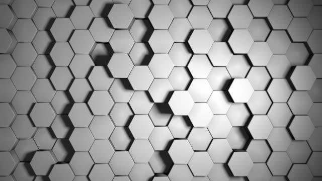 Hexagonal White Background Loop video