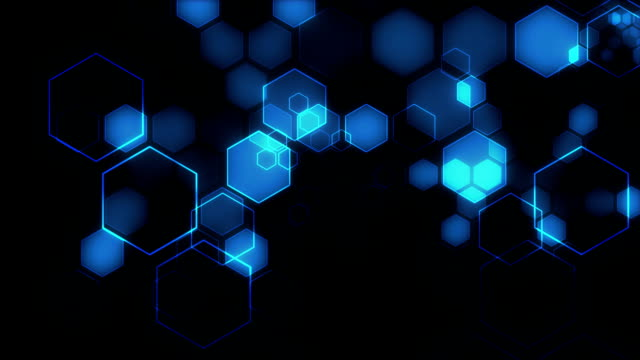 Hexagons - Looping Motion Background video
