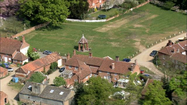 Heydon Village And Hall  - Aerial View - England, Norfolk, Broadland, United Kingdom video
