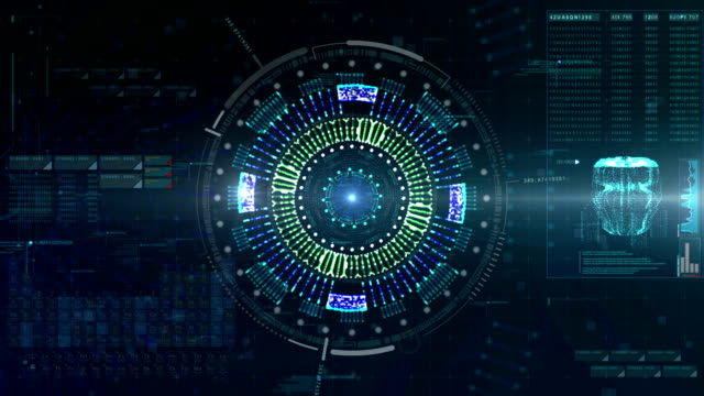 Hi Tech User Interface Head Up Display video