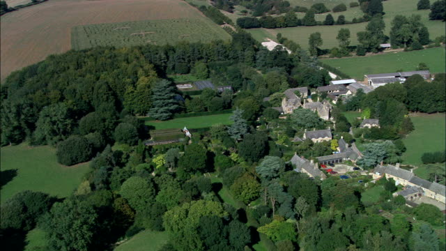 Hidcote Garden  - Aerial View - England, Gloucestershire, Cotswold District, United Kingdom video