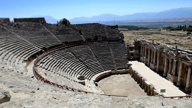 HD: Hierapolis theater, Pamukkale, Denizli/TURKEY video