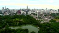 High angle Bangkok Lumpini Park video