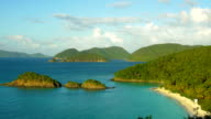 high angle video of Trunk Bay Beach, St.John, USVI video