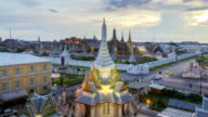 High angle view of Lak Mueang and Wat Phra Kaeo video