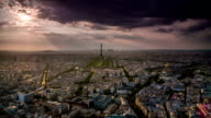 High angle view on Paris , France video