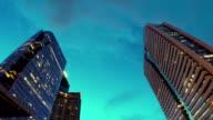 High Buildings at horizon twilight video