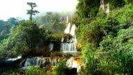 High Ciiff Waterfall Theelorsu in deep forest video