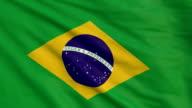 High detail flag of Brazil video