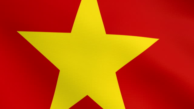 High detail flag of china video