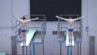 High Diver jumping into the water video