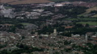 High Establishing Shot of Bury St. Edmunds - Aerial View - England, Suffolk, St. Edmundsbury District, United Kingdom video