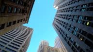 High glassy skyscrapers and downtown contemporary buildings video