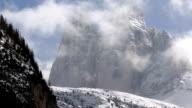 High Mountain Peaks in Winter TL PAN video