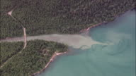 High Over McDonald Creek And L Lake  - Aerial View - Montana, Flathead County, United States video