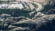 High Over Mount Rushmore  - Aerial View - South Dakota,  Pennington County,  United States video
