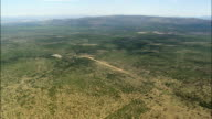 High Over the Open Veldt Nwc  - Aerial View - North-West,  Bojanala Platinum,  Local Municipality of Madibeng,  South Africa video