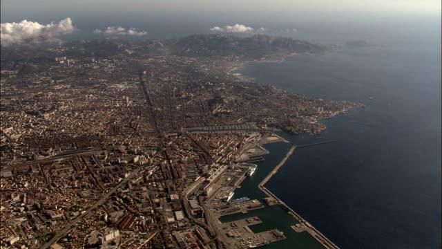 High Overhead Marseille  - Aerial View - Provence-Alpes-Côte d'Azur, Bouches-du-Rhône, Arrondissement de Marseille, France video