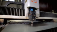 High precision CNC laser cutting metal sheet. Modern technologies allow to receive high-precision parts. Programmable machines operate efficiently and without the exemption video
