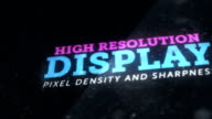 High resolution display with great pixel density and sharpness video