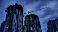 High Rise Construction Site video