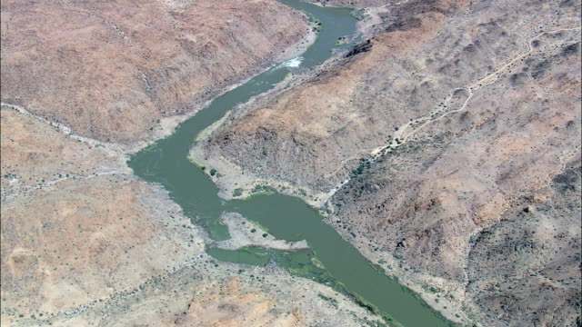 high! River Orange - Aerial View - Northern Cape,  South Africa video