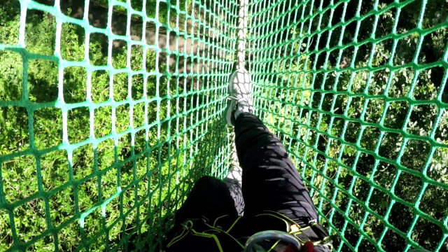 High Ropes / Assault course walking on Netting video