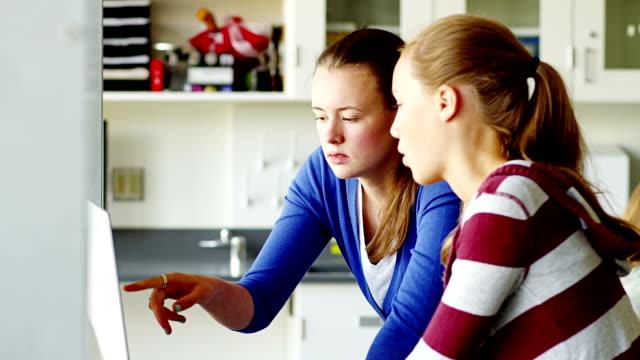 High school student mentoring child video