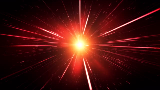 High Speed / Light Speed / Space Animation (Red) - Loop video