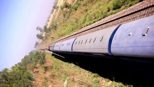 High speed train moving forward video